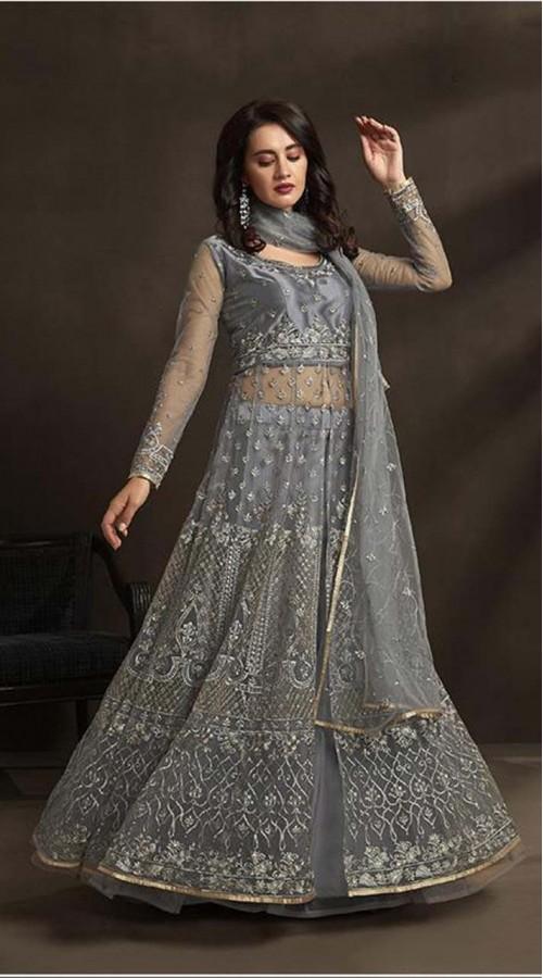 designer silver color suit KEKKZRA1532