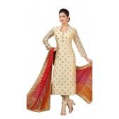 Chanderi Cream Designer Party Wear Readymade Suit ROT9011107406