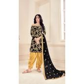 Black Designer Party Wear Velvet Salwar Suit ROT9026107637