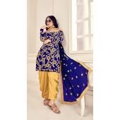 Blue Designer Party Wear Velvet Salwar Suit ROT9026107639