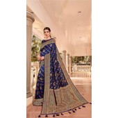 Blue Designer Classic Wear Silk Saree ROT9035107723