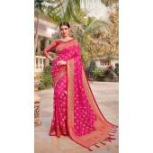 Rani Pink Designer Classic Wear Silk Saree ROT9035107725