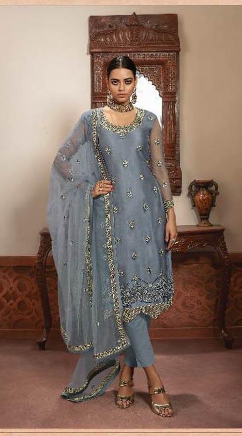 Designer Party Wear Salwar Suit in Grey color ROT9434111202