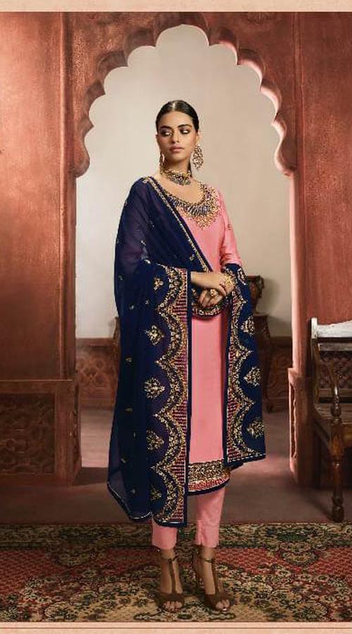Designer Party Wear Salwar Suit in Light Pink color ROT9434111206
