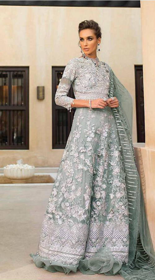 Designer Party wear pakistani style suit in sea Green color ROT9454111411