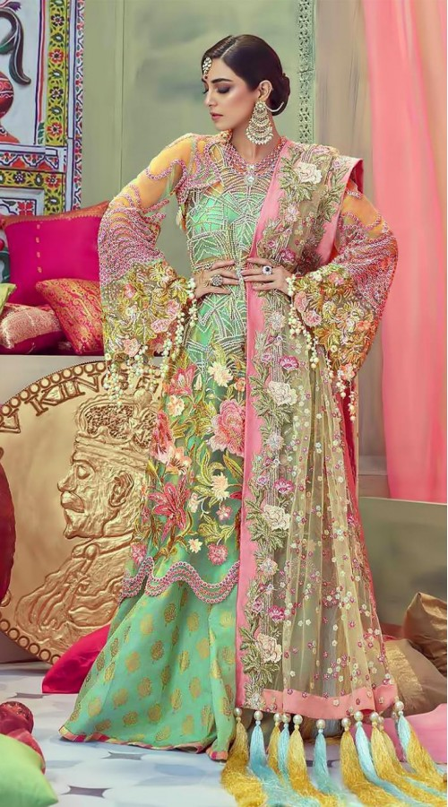 Designer Party wear Pakistani suit in Light Green color ROT9478111602