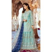 Designer Party wear Pakistani suit in Sky Blue color ROT9478111603