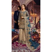 Designer Party wear Pakistani suit in Blue color ROT9478111605