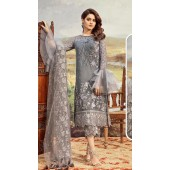 Designer Party wear Pakistani suit in Grey color ROT9478111606