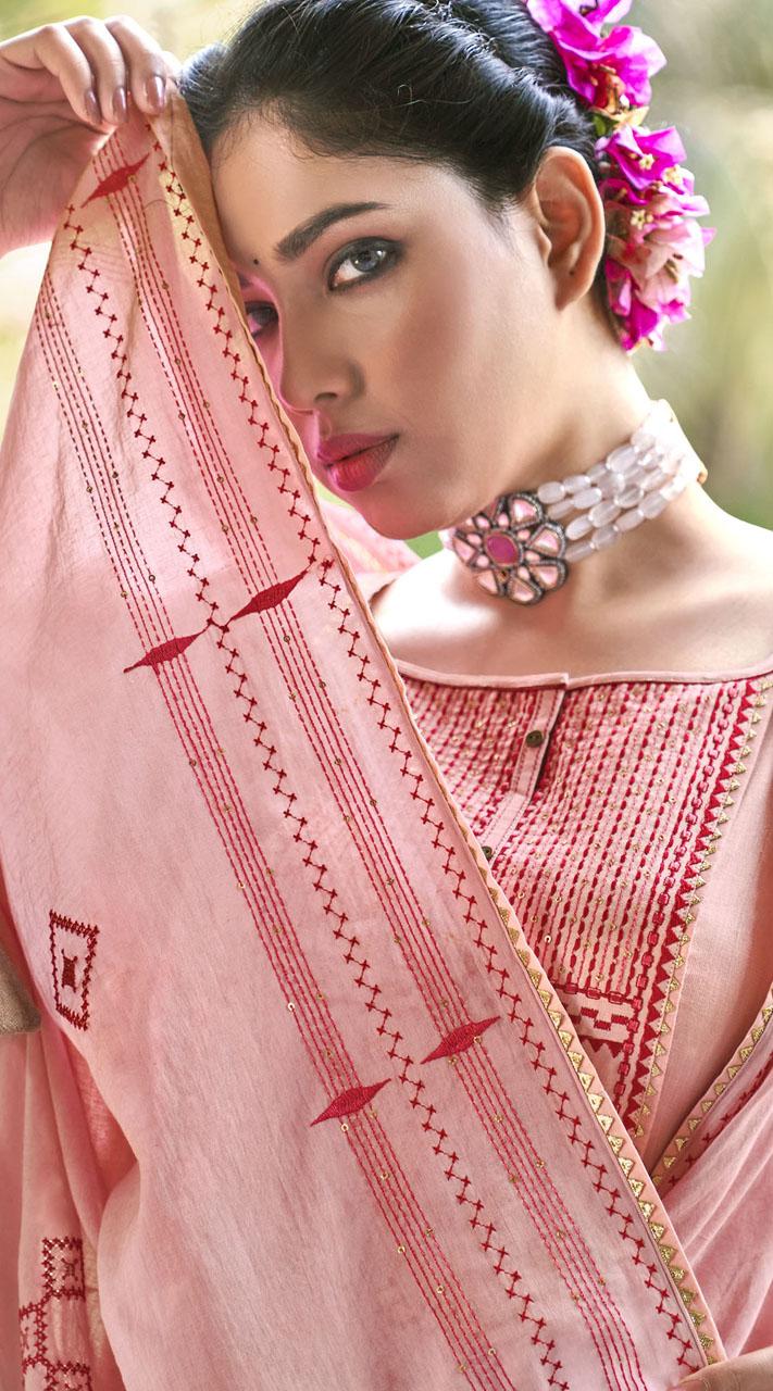 ROTRT1375-129497 Designer Festive Wear Cotton Mal Gharara Suit