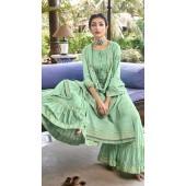ROTRT1375-129498 Designer Festive Wear Cotton Mal Gharara Suit