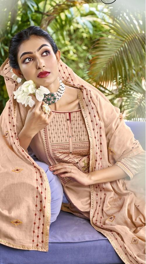ROTRT1375-129499 Designer Festive Wear Cotton Mal Gharara Suit