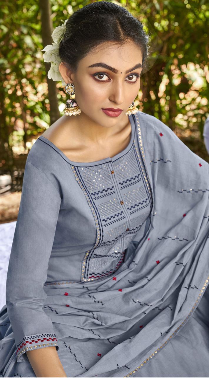 ROTRT1375-129500 Designer Festive Wear Cotton Mal Gharara Suit