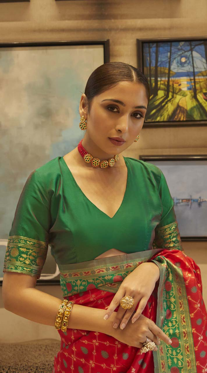 ROTRT1399-129678 Kanjeevaram Designer Traditional Wear Saree