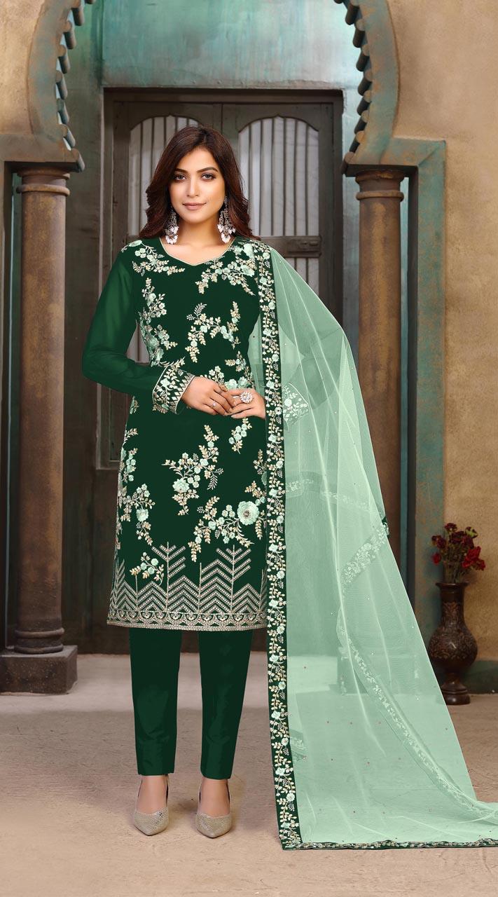 ROTRT1402-129701 Designer Festive Wear Faux Georgette Salwar Suit