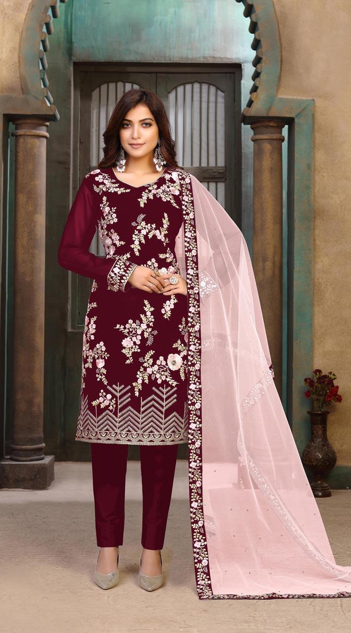 ROTRT1402-129702 Designer Festive Wear Faux Georgette Salwar Suit