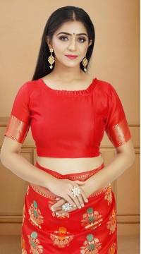 ROTRT1514-130734 Banarasi Designer Party Wear Poly Silk Saree