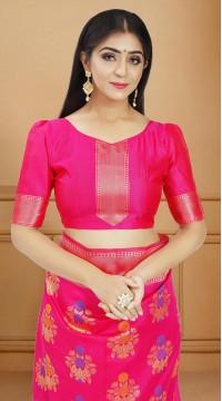 ROTRT1514-130737 Banarasi Designer Party Wear Poly Silk Saree