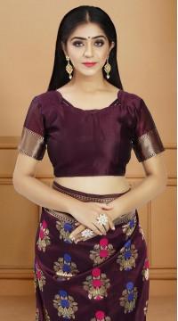 ROTRT1514-130738 Banarasi Designer Party Wear Poly Silk Saree