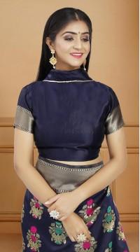ROTRT1514-130739 Banarasi Designer Party Wear Poly Silk Saree