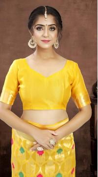 ROTRT1521-130771 Banarasi Designer Party Wear Poly Silk Saree