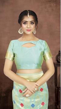 ROTRT1521-130772 Banarasi Designer Party Wear Poly Silk Saree