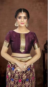 ROTRT1521-130773 Banarasi Designer Party Wear Poly Silk Saree