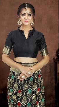 ROTRT1521-130774 Banarasi Designer Party Wear Poly Silk Saree