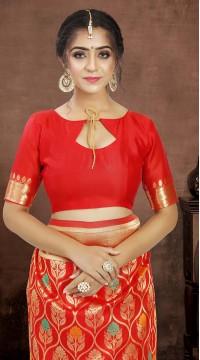 ROTRT1521-130775 Banarasi Designer Party Wear Poly Silk Saree