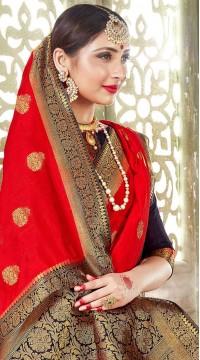 ROTRT1523-130782 Banarasi Designer Traditional Wear Banarasi Art Silk Saree