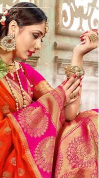 ROTRT1523-130784 Banarasi Designer Traditional Wear Banarasi Art Silk Saree
