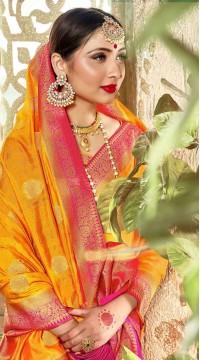 ROTRT1523-130785 Banarasi Designer Traditional Wear Banarasi Art Silk Saree