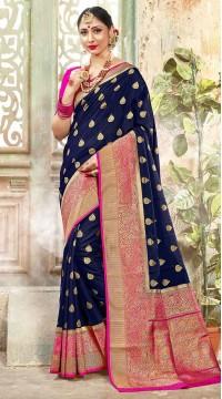 ROTRT1523-130786 Banarasi Designer Traditional Wear Banarasi Art Silk Saree