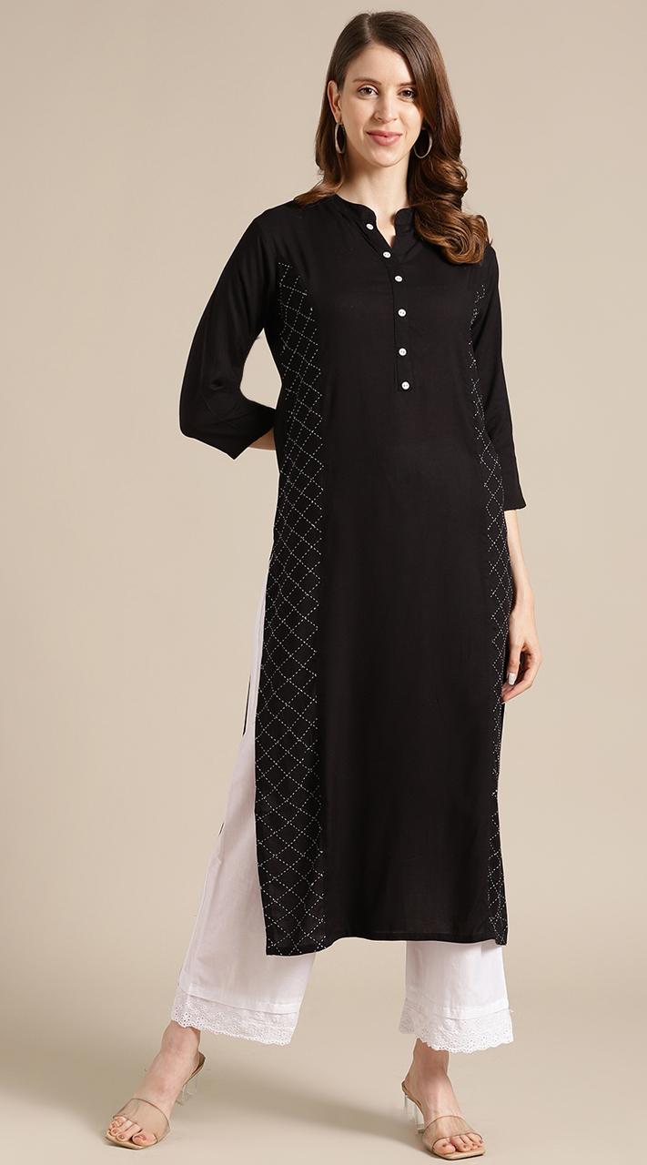 ROTRT1067-127007 Black Color Designer Party Wear Kurti
