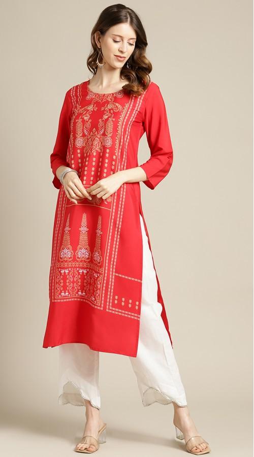 ROTRT1067-127011 Red Color Designer Party Wear Kurti