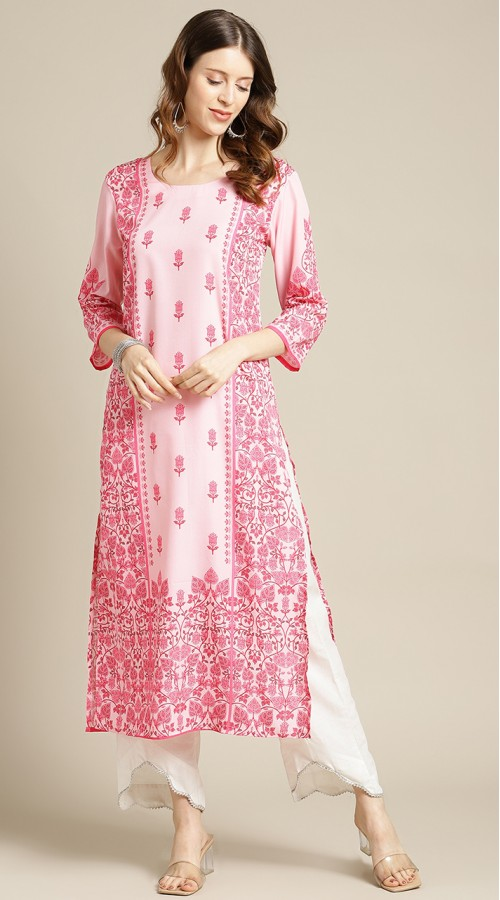 ROTRT1067-127013 Pink Color Designer Party Wear Kurti