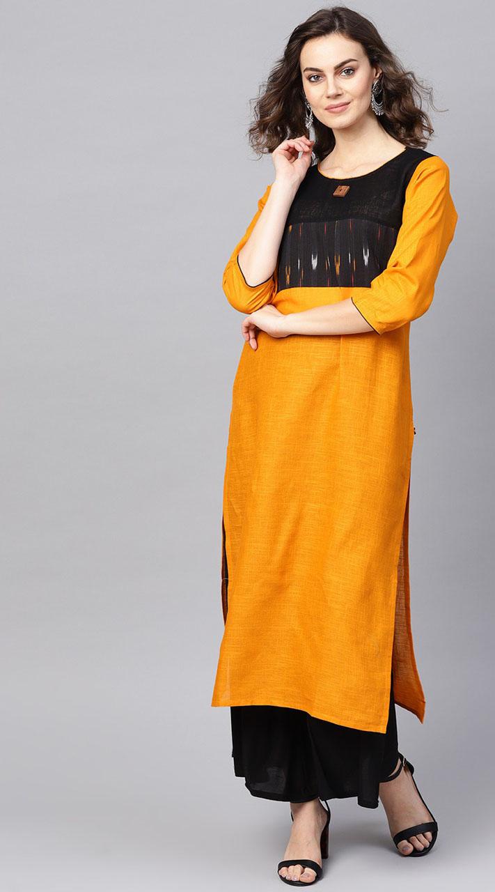 ROTRT1067-127016 Yellow Color Designer Party Wear Kurti