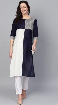 ROTRT1067-127017 Navy Color Designer Party Wear Kurti