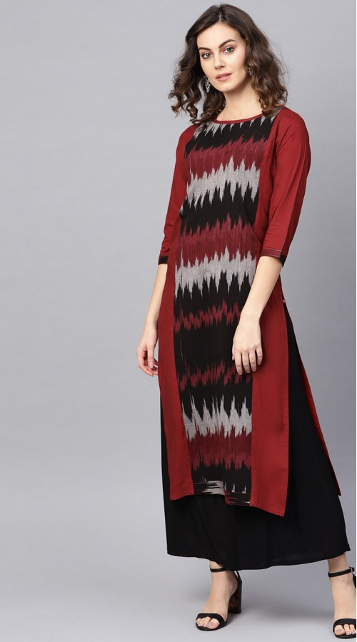 ROTRT1067-127018 Red/Maroon Color Designer Party Wear Kurti