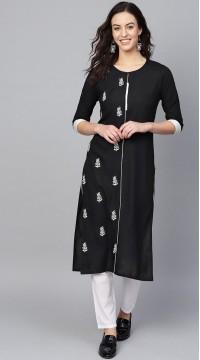 ROTRT1067-127019 Black Color Designer Party Wear Kurti
