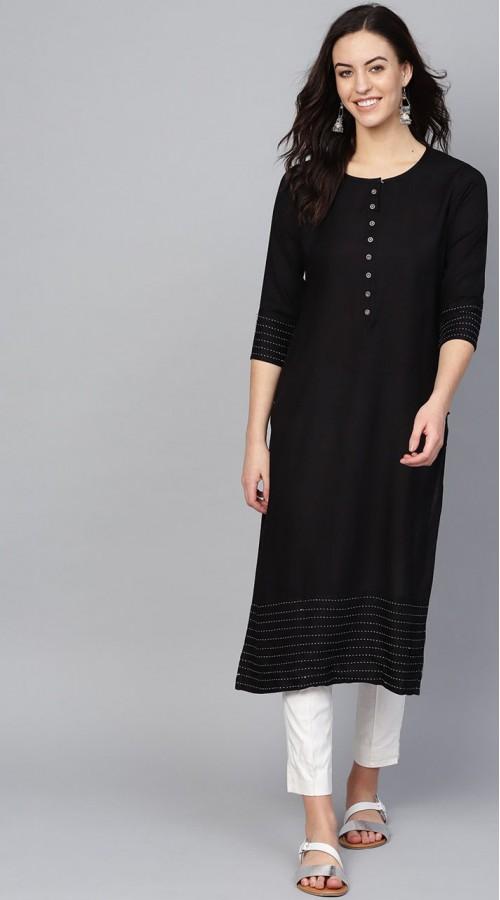 ROTRT1067-127020 Black Color Designer Party Wear Kurti