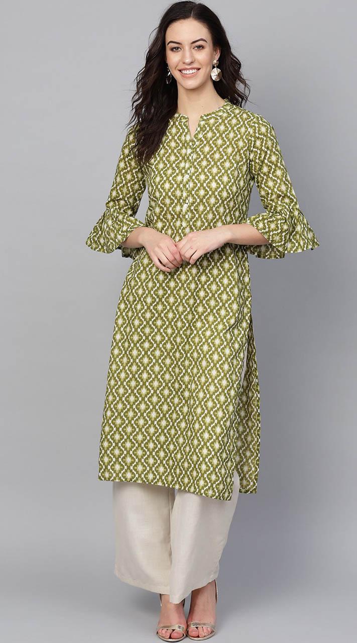 ROTRT1067-127021 Green Color Designer Party Wear Kurti