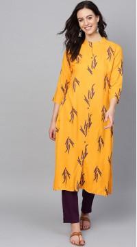 ROTRT1067-127023 Yellow Color Designer Party Wear Kurti