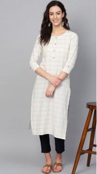 ROTRT1067-127025 White Color Designer Party Wear Kurti
