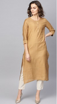 ROTRT1067-127028 Brown Color Designer Party Wear Kurti