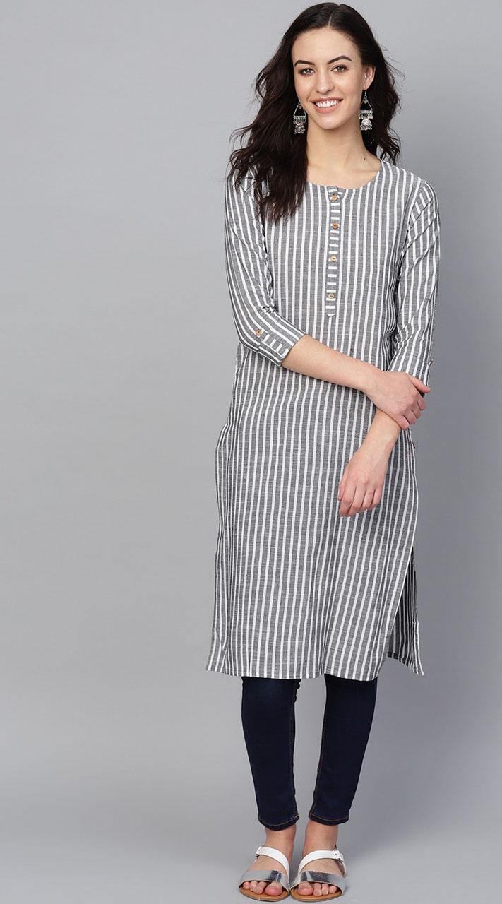 ROTRT1067-127029 Grey Color Designer Party Wear Kurti