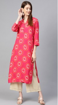ROTRT1067-127030 Purple/Pink Color Designer Party Wear Kurti