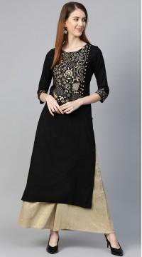 ROTRT1067-127032 Black Color Designer Party Wear Kurti