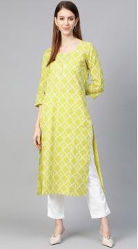 ROTRT1067-127033 Green Color Designer Party Wear Kurti