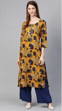 ROTRT1067-127034 Yellow Color Designer Party Wear Kurti